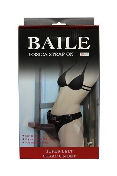 Gode Ceinture Passionate Noir Jessica 18cm