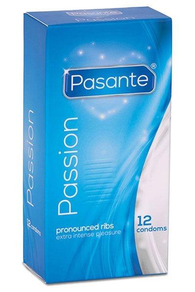 12 Préservatifs Rainurés Passion - Passante