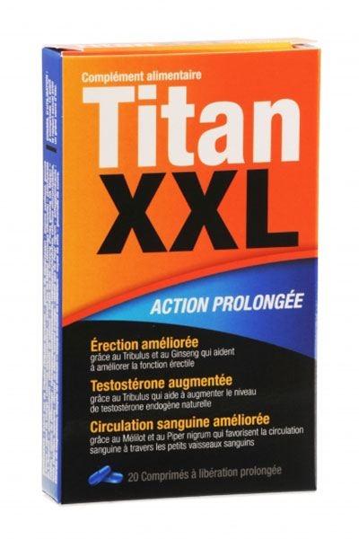 TITAN XXL - Stimulant sexuel - 20 comprimés