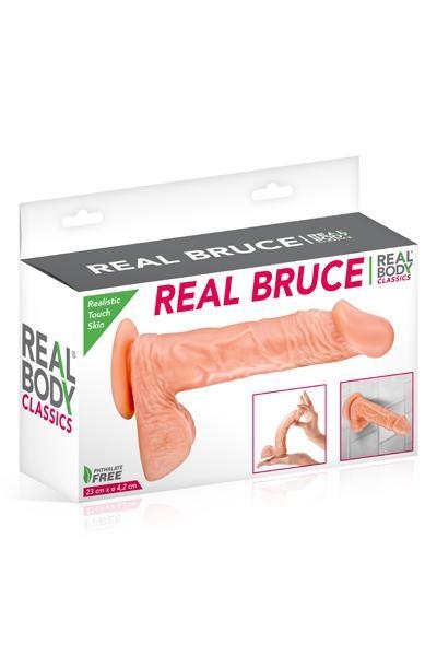 Gode Realiste Ventouse Real Body Bruce 23cm