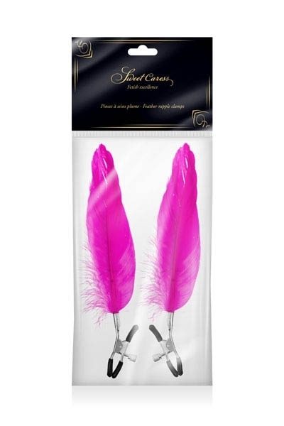 Pinces Seins Plume d'Oie Sweet Caress Fushia