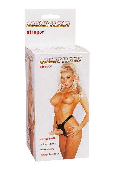 Gode-ceinture réaliste Magic Flesh Strapon 17cm