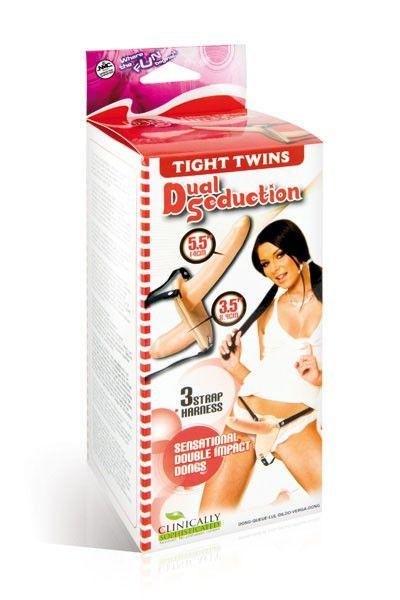Double gode-ceinture pénétrant en latex pour femme