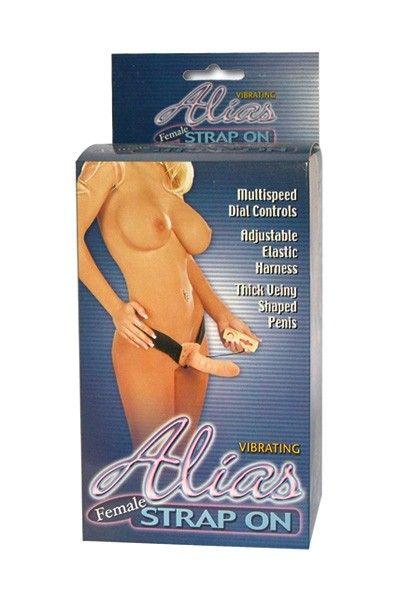 Gode-ceinture réaliste vibrant télécommandé Alias Strap-On 17cm