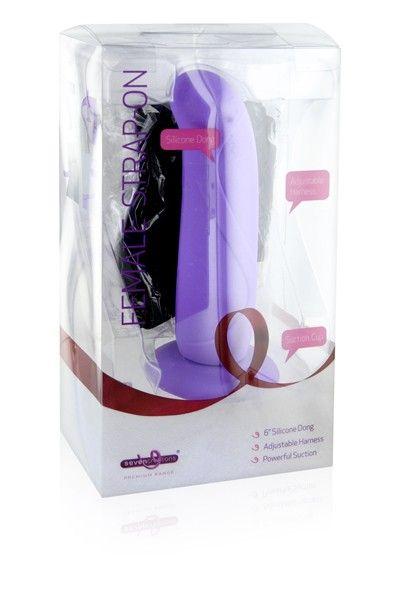 Gode-ceinture femme amovible silicone avec ventouse 16cm