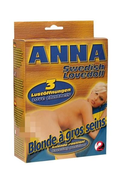 Poupée Gonflable Ann Blonde en Levrette 3 Orifices