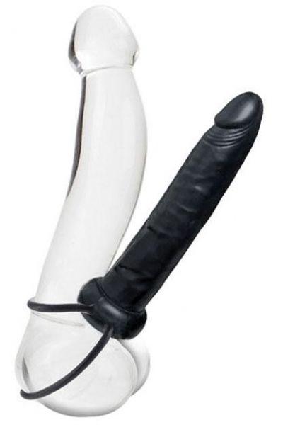 Gode-harnais homme pour double pénétration 18cm