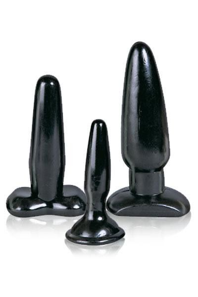Coffret 3 plugs anal Liquorice Dip Butt Plugs