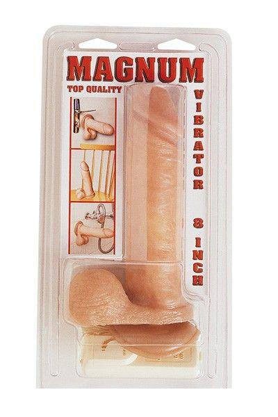 Gode réaliste vibrant ventouse télécommandé Magnum 21cm