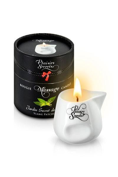 Bougie de massage arôme Ylang-Patchouli 80g Plaisirs Secrets