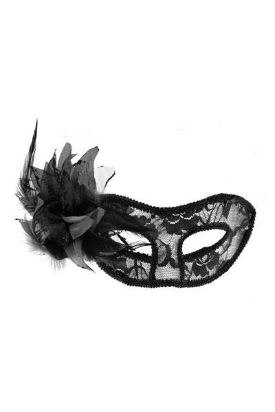 Masque vénitien La Traviata noir