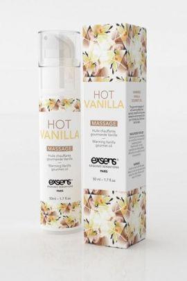 Huile de massage gourmande chauffante Exsens arôme vanille 50ml