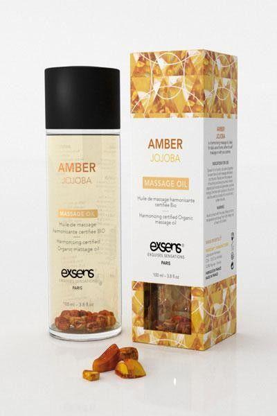 Huile de massage Bio Exsens arôme ambre Jojoba 100ml