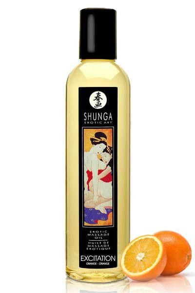 Huile de massage Excitation Shunga arôme Orange 250ml