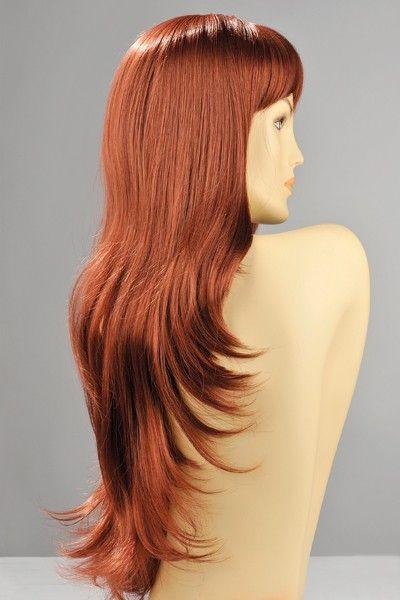 Perruque sexy Diane cheveux roux