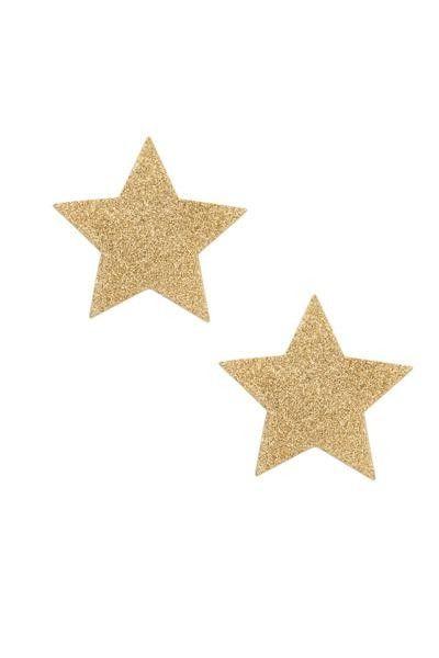 Bijoux de seins sexy étoile dorés
