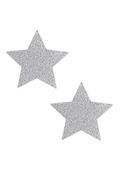 Bijoux de seins étoile sexy argentés