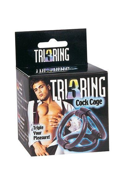 Cockring à 3 anneaux pénis et testicules