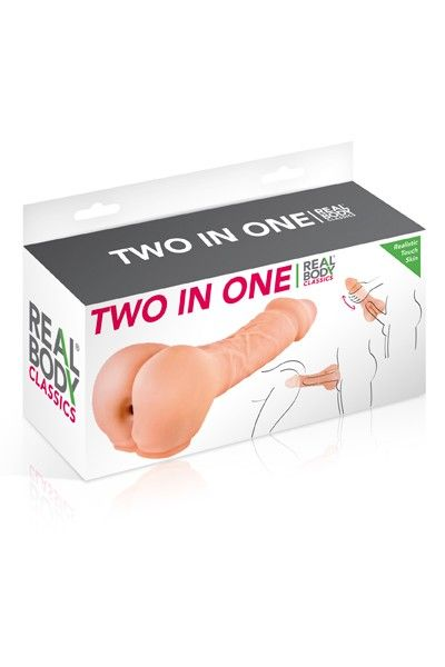 Masturbateur anus avec prolongateur pénis réaliste 20cm Real Body