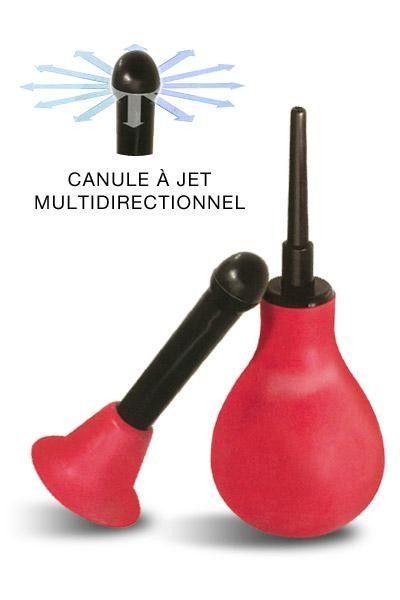 Poire à lavement avec canule pour jets multidirectionnels