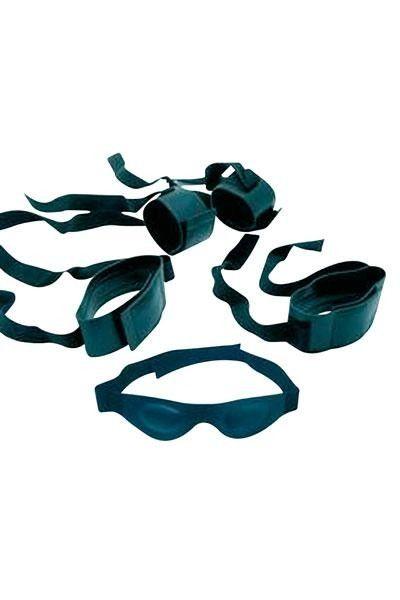 Ensemble Ultimate Bondage menottes poignets chevilles et masque